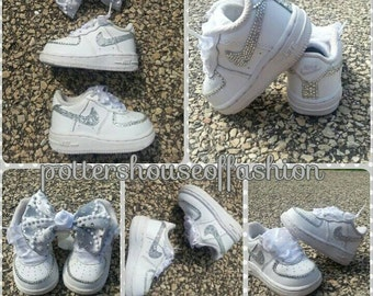 Bling Nike Air force ones for girls!