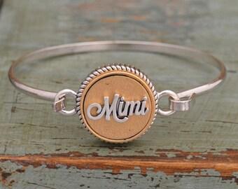 Two Tone Mimi Bangle Bracelet - 23178BBR