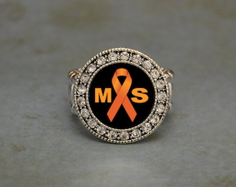Multiple Sclerosis Awareness Stretchy Ring