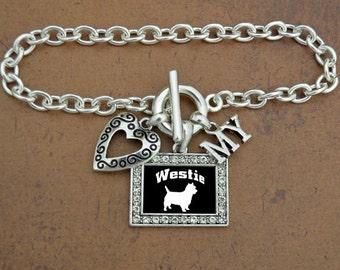 Heart My Westie Bracelet
