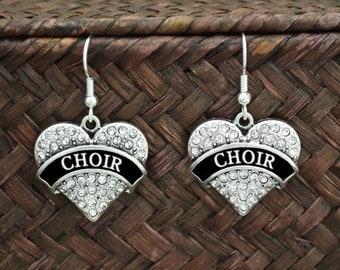 Choir Heart Earrings - CHCHR54446