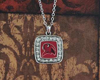 West Texas A&M Buffaloes Square Necklace