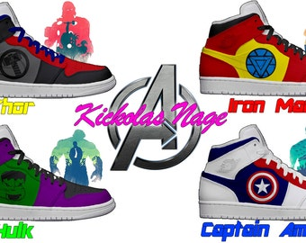 Men's Light Up Avengers Shoes