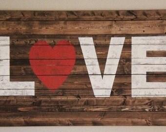 Custom love sign