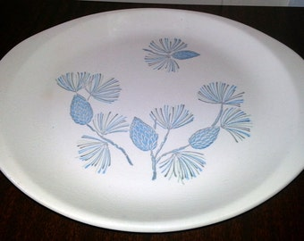 Mid-Century Marcrest Stetson Blue Spruce Pine Cone Platter - 2 Available