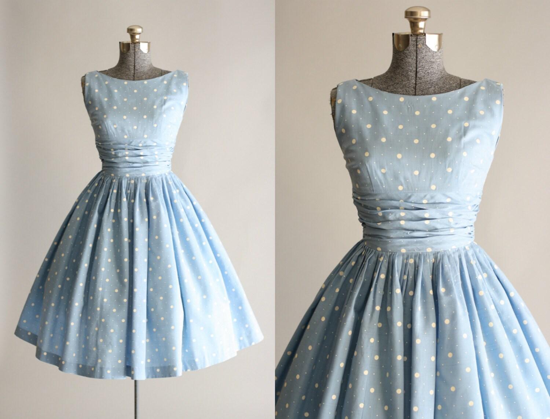 vintage er jahre kleid er jahre baumwolle kleid blaue