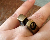 Vintage Brass Ring, Unisex, Artisan jewelry