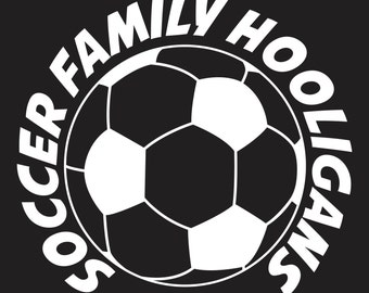 "Soccer window decal sticker ""Soccer Family Hooligans"""