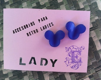 SALE!!! Mickey Mouse blue Lucite Earrings