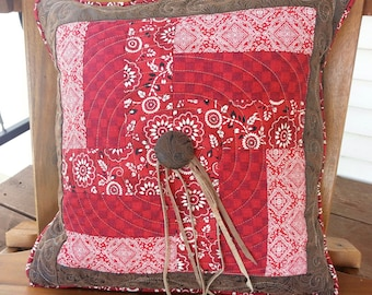 Western Quilted Pillow Cover