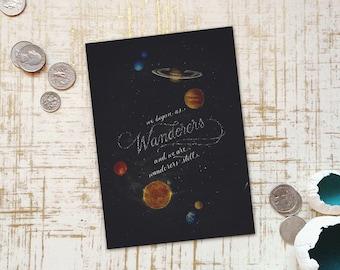 "Carl Sagan - Wanderers - 5"" x 7"" Art Print"
