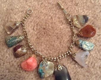 Charm Bracelet - Polished Stones