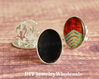 18x25mm silver Rings Setting , Ring Setting,Ring Bases , Adjustable Rings , Pad Ring Blanks , Ring Bases,Vintage Design Filigree Ring Bases