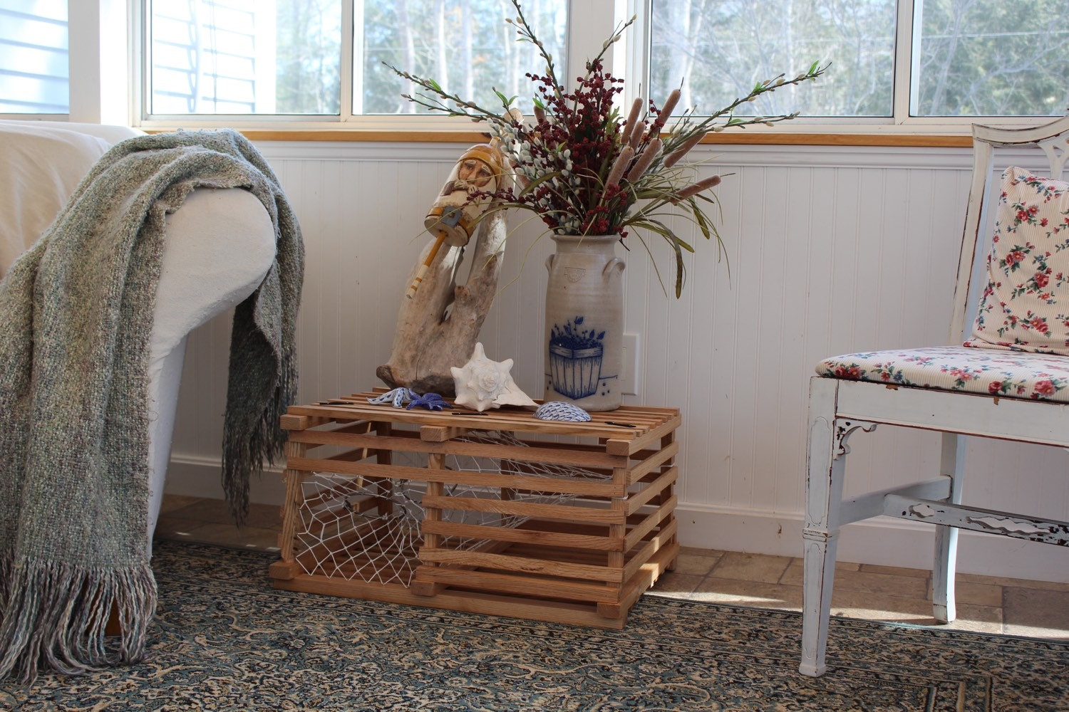 wooden lobster trap etsy lobster house