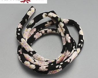 "JAPANESE CHIRIMEN CORD: 7mm x 32"" Japanese Chirimen Cord for Necklaces, Wrap Bracelets & Embellishments"