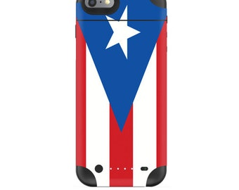 Skin Decal Wrap for Mophie H2Pro iPhone 6/6+ LG G4 Air iPhone 6  5 iPhone 4 Galaxy S6 Edge S7 Edge Vinyl Cover Skins Puerto Rican Flag