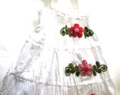 Kids clothing-3 to 6 years old cotton dress-Girl's cotton dress-Skirt-Small size-Handmade-Embroidery-Girls' clothing-Children's clothing
