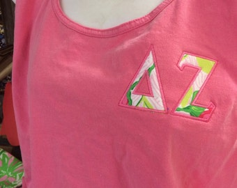 Delta Zeta Tank, Short Sleeve, or Long Sleeve, with DZ Lilly Fabric