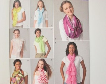 Simplicity 2170 Andrea Schewe Designs ~ Easy and Fun Scarves with Rufles & Fringe --Sew With Your Daughter! UNCUT Sewing Pattern