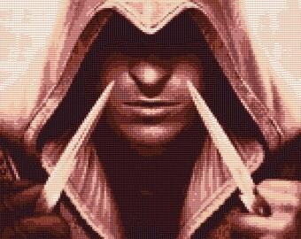 Ezio Auditore - Assassins Creed 2 Cross Stitch Pattern