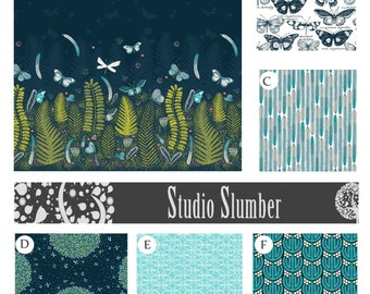 Nursery Bedding Crib Bedding Baby Bedding Fireflies Dandelions Choose your fabrics