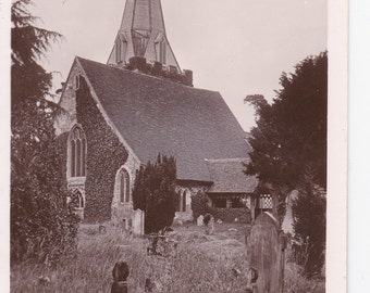 Stoke Poges Cemetery Antique Real Photo Postcard