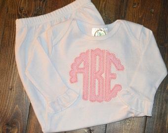Monogram baby gown