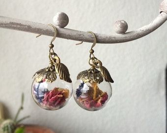 """Romantic flower"" earrings"
