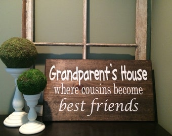 Grandparents House Sign | Wood Sign
