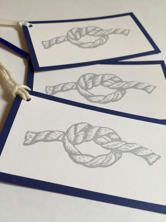 Nautical Wedding Gift Tags : Nautical Knot Gift Tags- Beach Wedding Gift Tags- Nautical Party Gift ...