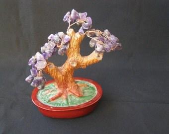 Marvelous amethyst natural gem stone tree