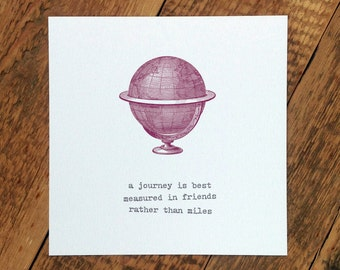 Bon Voyage Card; A Journey Is Measured In Friends (GC276)