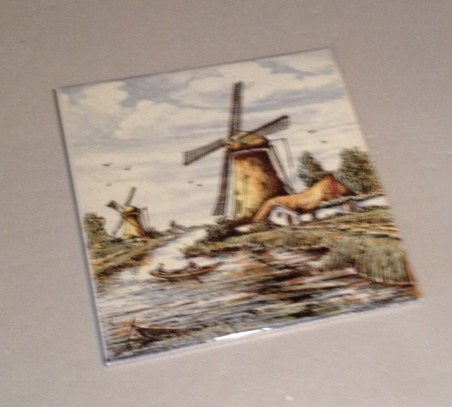 1970 39 S Vintage Holland Dutch Scenery On Ceramic Tile