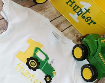 Tractor birthday shirt