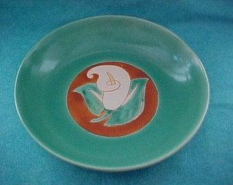 "San Jose Pottery Calla Lily Bowl 13 1/2"""