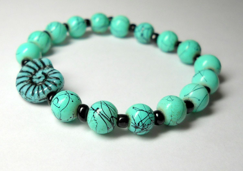 unique artisan gemstone handmade jewelry stretch bracelet
