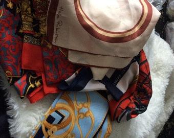 Selection of lovely vintage scarves