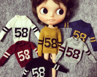 Figure Sweater for Blythe (blythe/azone/licca/jerryberry fit)