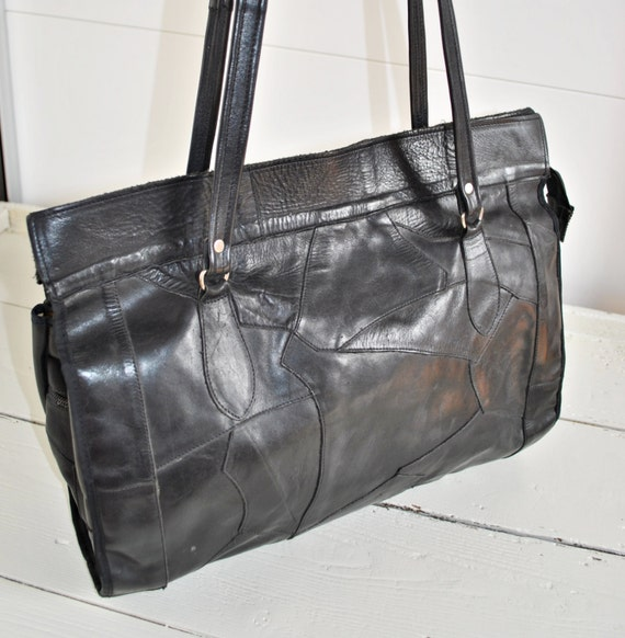 Patchwork leather purses on sale