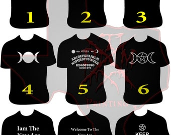Wiccan T-Shirts Assorted Designs