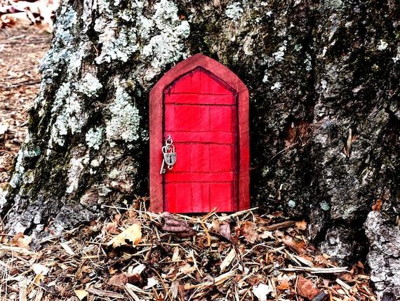 Fairy door wood unfinished indoor outdoor craft supplies for Unfinished fairy door
