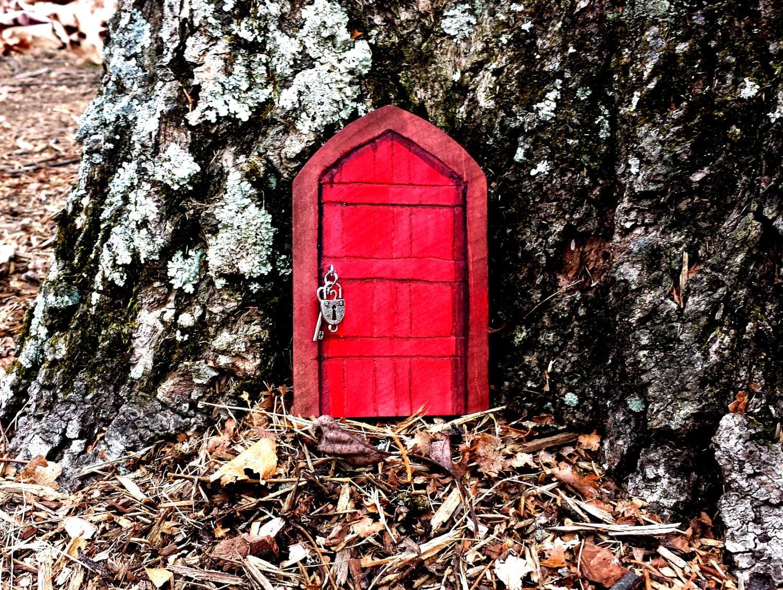 Fairy door wood unfinished indoor outdoor craft supplies for Outdoor fairy doors australia