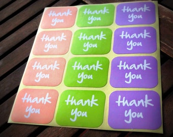 Thank You Labels, Wedding Favour Thank you Stickers, Envelope Seals