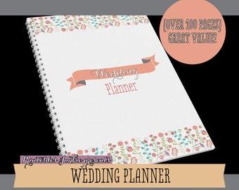 Sale: Printable Wedding Planner // Wedding Checklist // Wedding Binder // Wedding Organizer Planner Pages