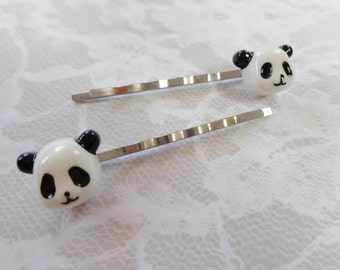 Panda Bear Hair Clips
