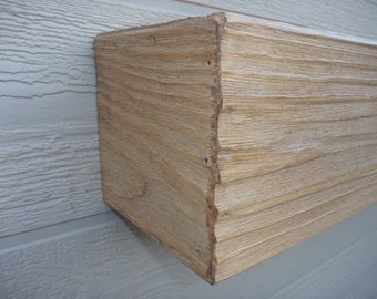 "Fireplace mantel. Rugged Wood Mantel.Fireplace Mantle . Floating shelf .Wooden Mantle. 60"" Long x 5.5"" Tall x 5.5"" Deep.Fireplace Decor"