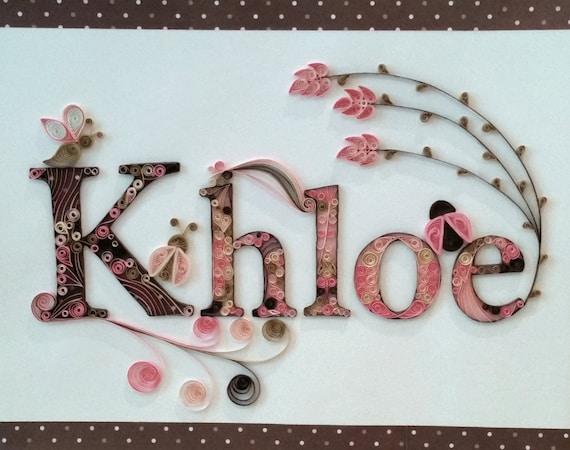 Quilling Custom Name Wall Hanging Khloe