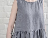 Smock linen dress / linen loose dress available in 34 colors