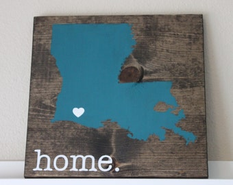 Louisiana Wood Sign, State Sign, Custom Wood Sign, Pallet Sign, Personalized Wood Sign, home decor, wall art, moving gift