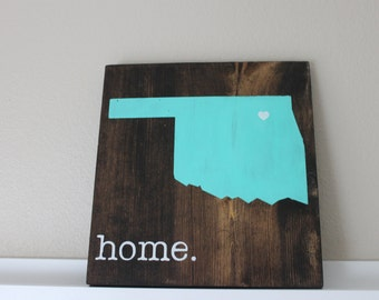 Oklahoma Wood Sign, State Sign, Custom Wood Sign, Pallet Sign, Personalized Wood Sign, home decor, wall art, moving gift